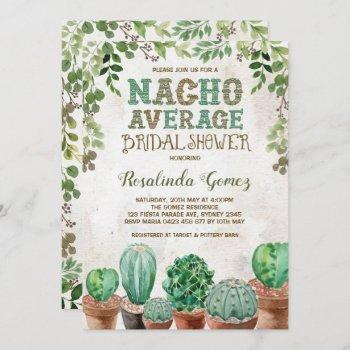 fiesta bridal shower cactus succulent invitation