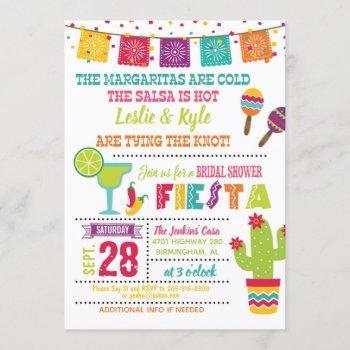 fiesta bridal shower invitation - white