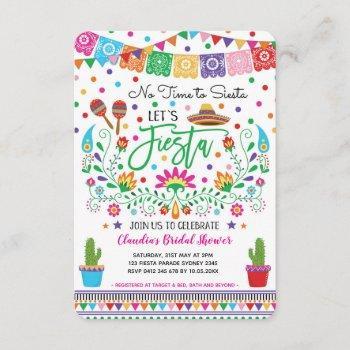 fiesta bridal shower / no time for siesta mexican invitation