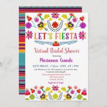 fiesta floral virtual bridal shower invitation