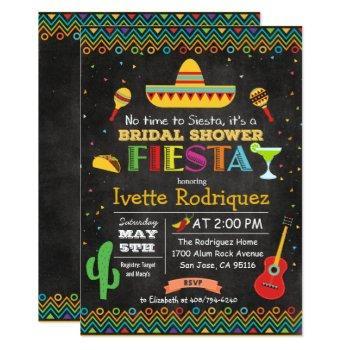 fiesta mexican bridal shower chalk invitation