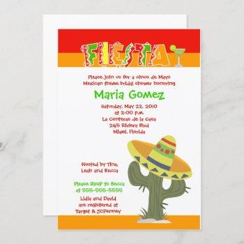fiesta mexican cinco de mayo bridal shower invite