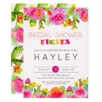 fiesta succulent botanical bridal shower invite