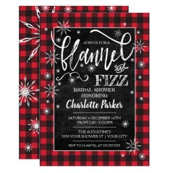 flannel & fizz bridal shower invitation