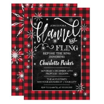 flannel & fling before the ring shower invitation