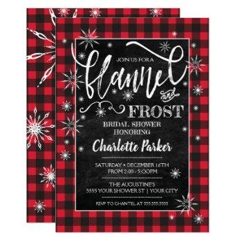 flannel & frost bridal shower invitation