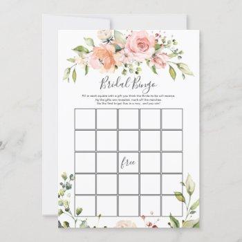 floral bridal bingo/he said, she said games invitation