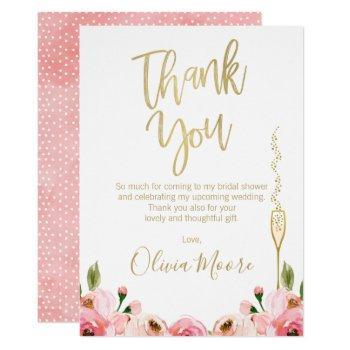 floral bridal brunch bridal shower thank you card
