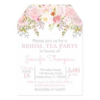 floral garden bridal tea party invitation