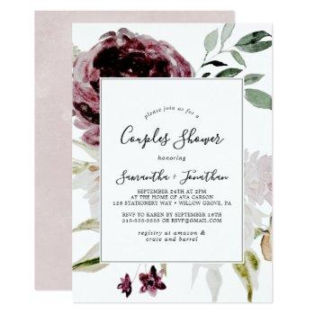 floral romance couples shower invitation