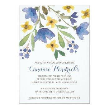 floral watercolor | bridal shower invitation