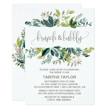 foliage brunch and bubbly invitation