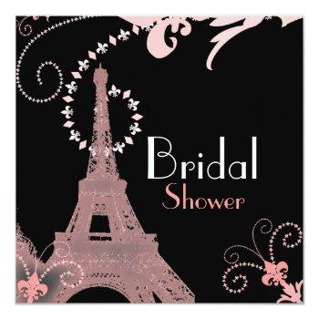 french eiffel tower vintage paris bridal shower invitation