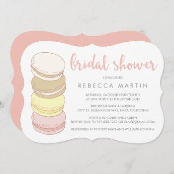 french macarons | pastel bridal shower invitation