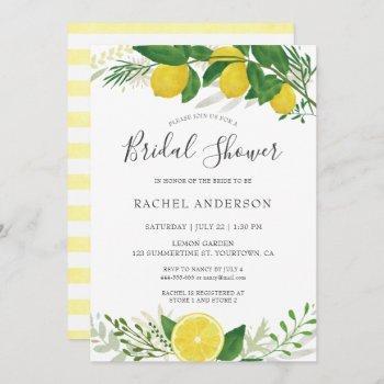 fresh lemon bridal shower invitation card 02
