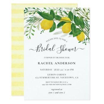 fresh lemon bridal shower invitation card 03