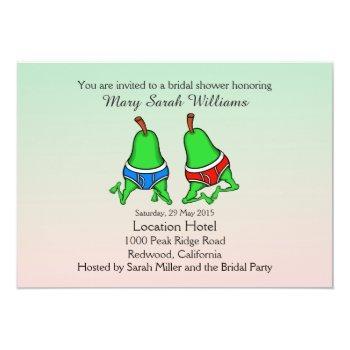 fun gay pear bridal shower invitation