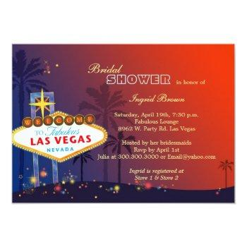fun glamorous las vegas bridal shower invitation