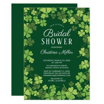 fun shamrock irish bridal shower invitation