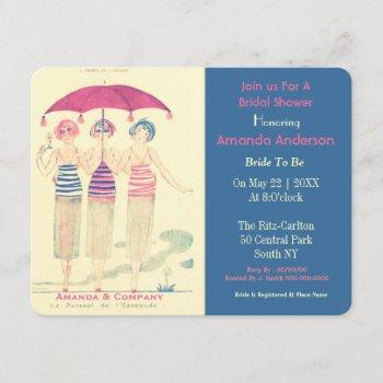 funny bride and her woman friends invitation