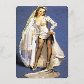 funny pinup bride lingerie shower invitation