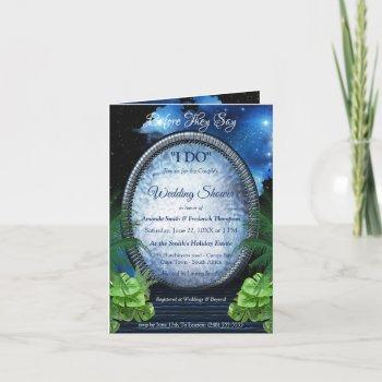 galaxy portal couple shower invitation