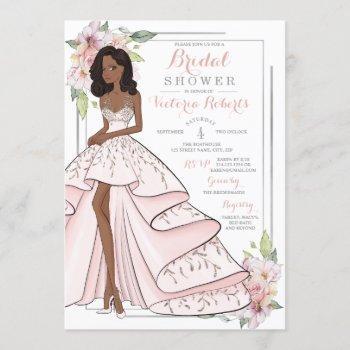 glam girl bridal shower invitation