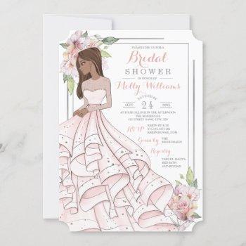 glam girl bride bridal shower invitation