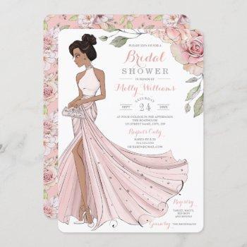 glam personalized bride bridal shower invitation