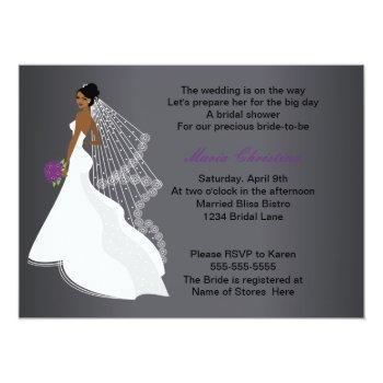 glamour girl bridal shower invitation 1(c1)