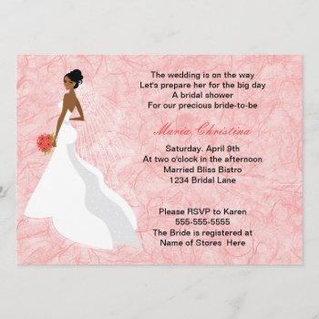 glamour girl bridal shower invitation 2
