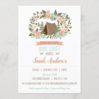 glamping bridal shower invitation