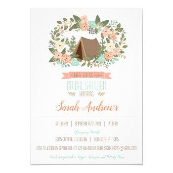 glamping bridal shower invitation