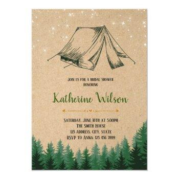 glamping bridal shower party invitation