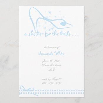 glass slipper bridal shower invitation
