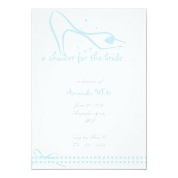 glass slipper bridal shower invitation