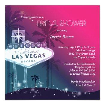 glitz & glam las vegas bridal shower invitation