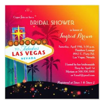 glitzy las vegas bridal shower invitation