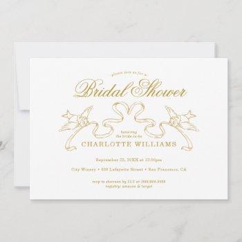 gold cinderella bridal shower invitation