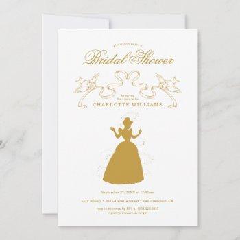 gold cinderella bridal shower save the date