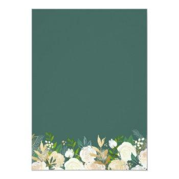 Gold Glitters Greenery Floral Bridal Shower Brunch Invitation Front View