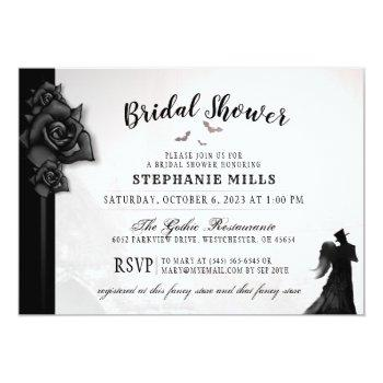 gothic romance bridal shower invitation