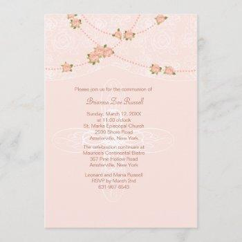 gracious lace invitation