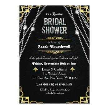 great gatsby art deco bridal shower invitation