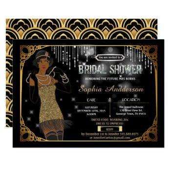 great gatsby bridal shower invitation african