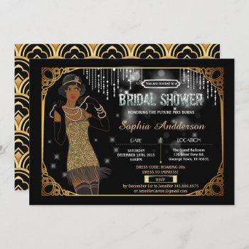 great gatsby bridal shower invitation african