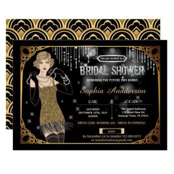 great gatsby bridal shower invitation flapper