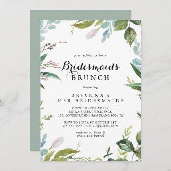 greenery calligraphy bridesmaids brunch shower invitation