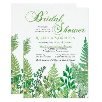 greenery | wild ferns bridal shower invitations