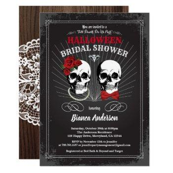 halloween bridal shower till death do us part invitation